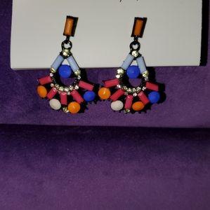 Colorful geometric earrings
